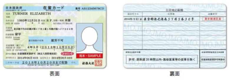 在留資格カード